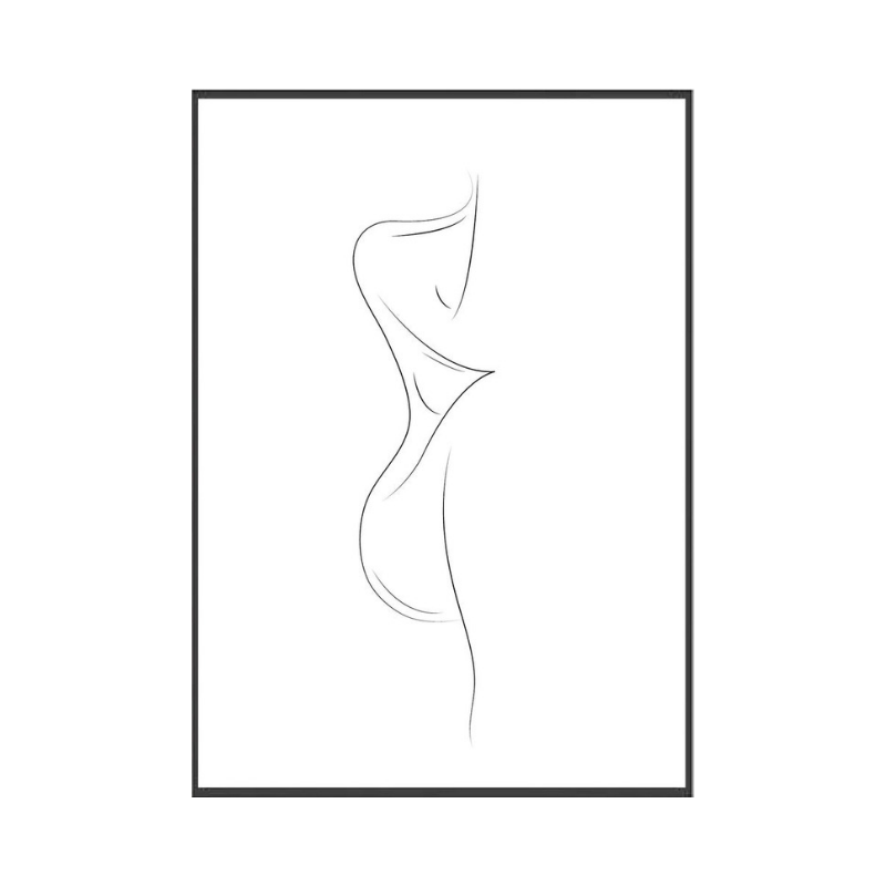 minimal sketch art in the home