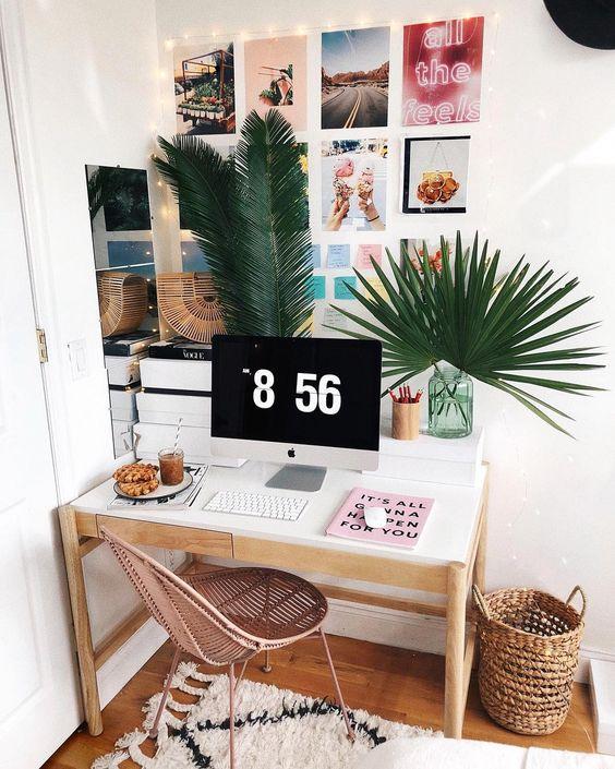 Inspiring office space will wall art