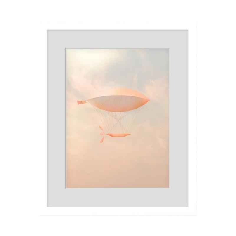 how to choose art orange white frame