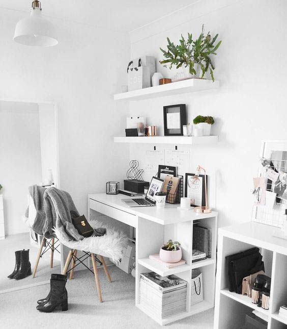 monochrome inspiring office space