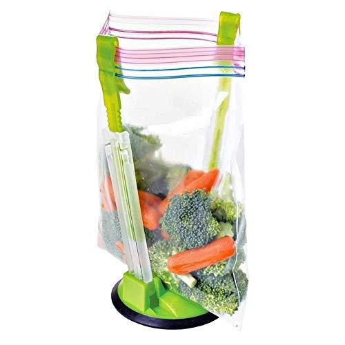 plastic bag zip lock bag holder kitchen