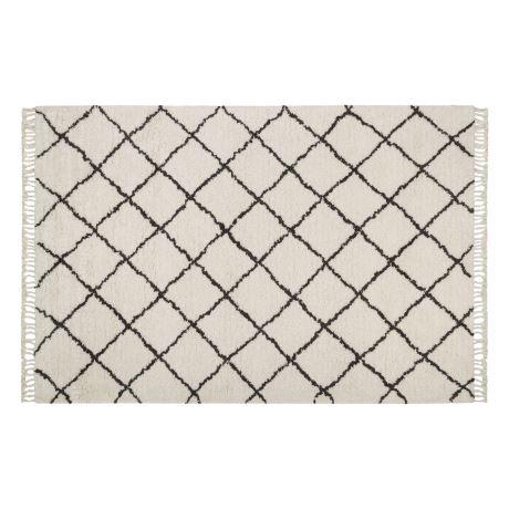 White and black diamond rug Scandinavian