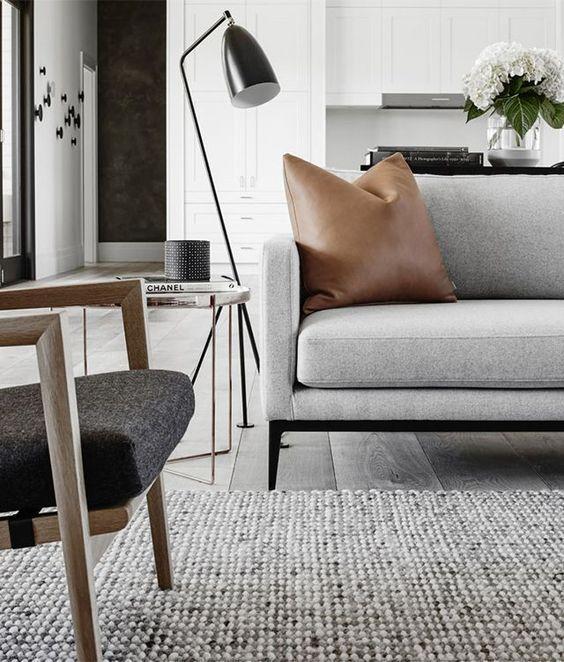 Scandinavian living room grey
