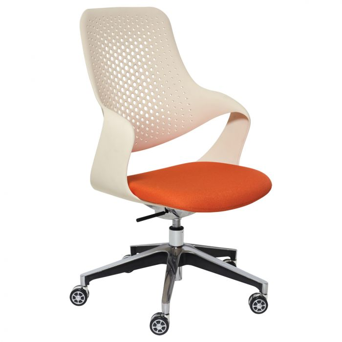Orange and white chair for office