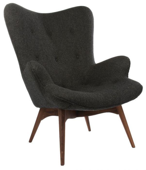 Scandi black wood statement chair