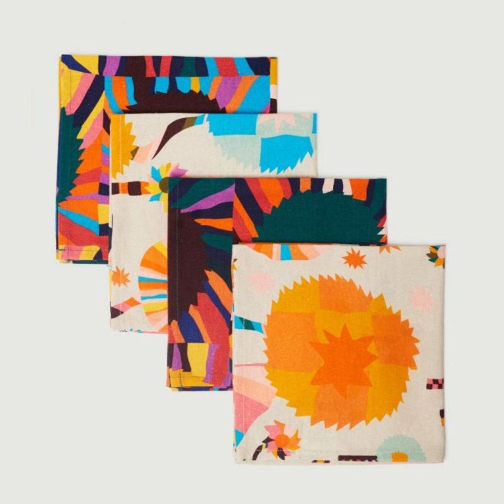 Colourful kitchen napkins