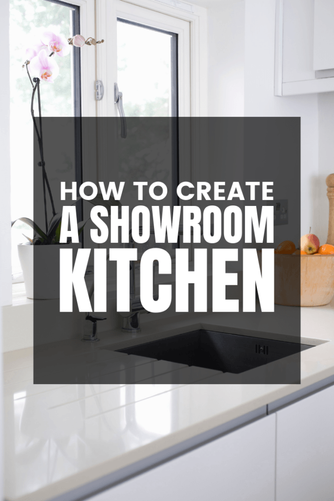 How to create a showroom kitchen