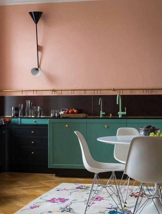 Green cabinets kitchen