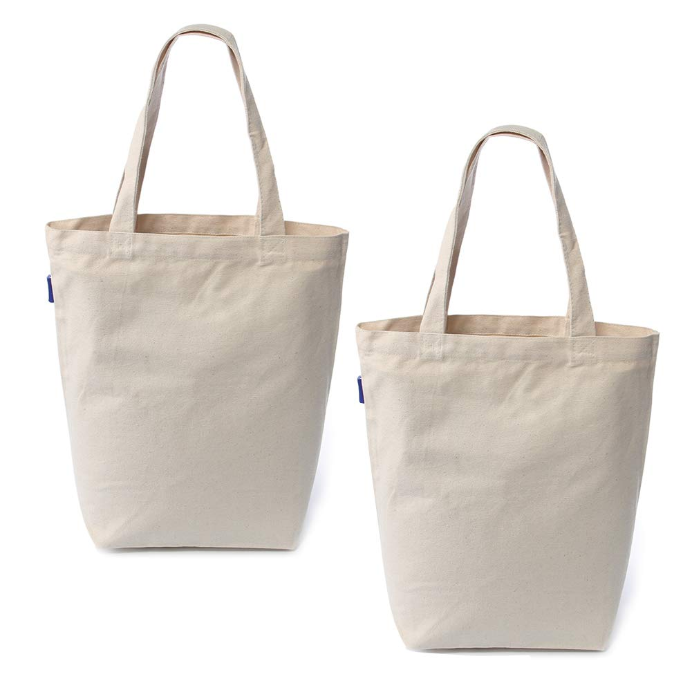 Reusable Grocery Bags Washable High Quality 100% Natural Cotton Canvas Eco-Friendly Durable Shoulder
