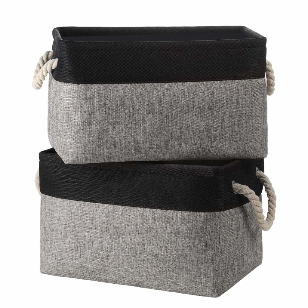 Linen Storage Baskets Boxes Containers Cube Bin Organizers