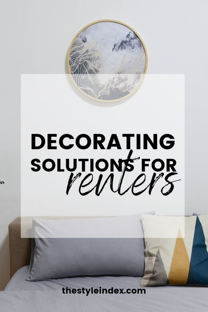 DECORATING SOLUTIONS FOR renters