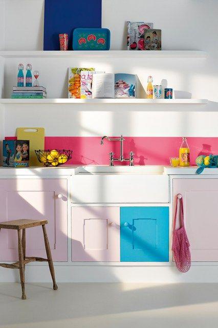 bright fun colour kitchen