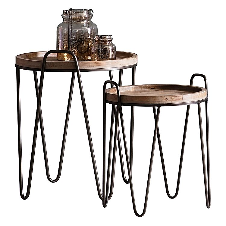 Industrial style side table design