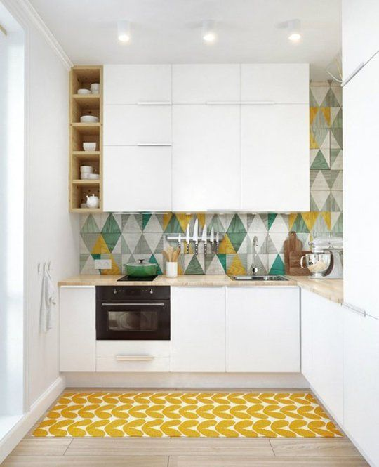 colourful yellow kitchen the style index