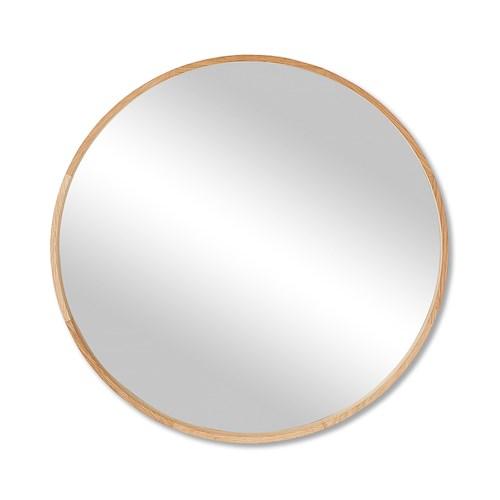 round oak mirror