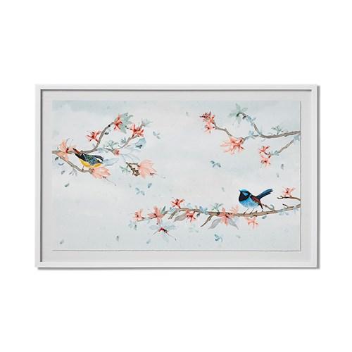 floral bird print