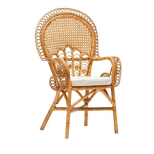 peacock chair rattan woven