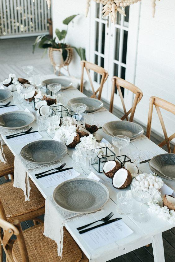 stone dinnerware dining room