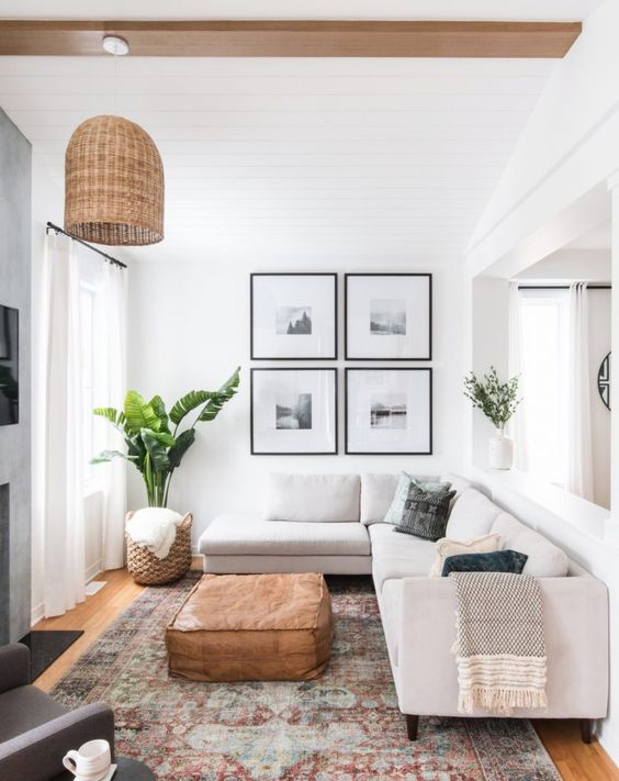 Living room with picture frame