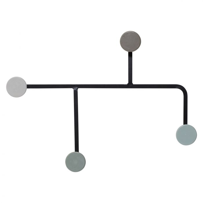 Coat rack retro grey
