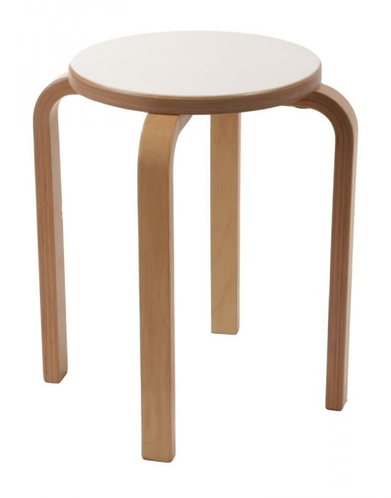 Retro low stool wood Scandinavian