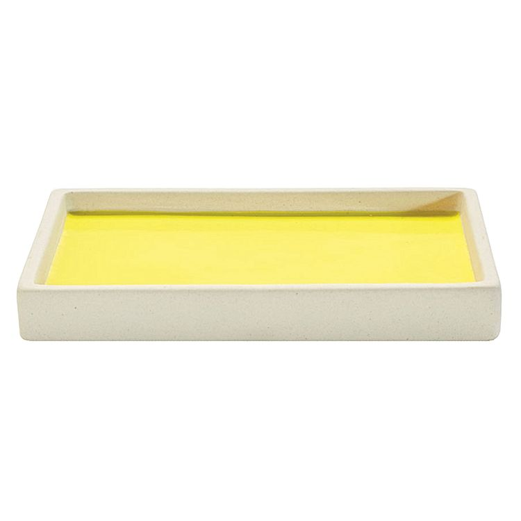 Soap Dish yellow bathroom