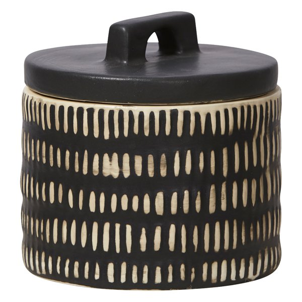 Canister black and white for bathroom