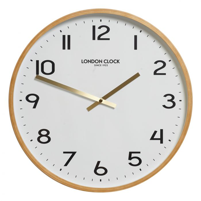 retro clock gold and white