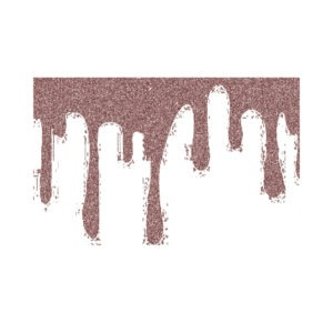 rose gold dripping glitter clipart