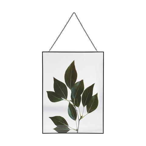 leaf print wall hanging