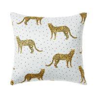 Silky Fleece Leopard Cushion