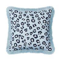 Leopard Print Blue & Navy Cushion