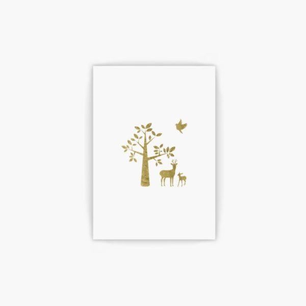 gold forest animals wall art