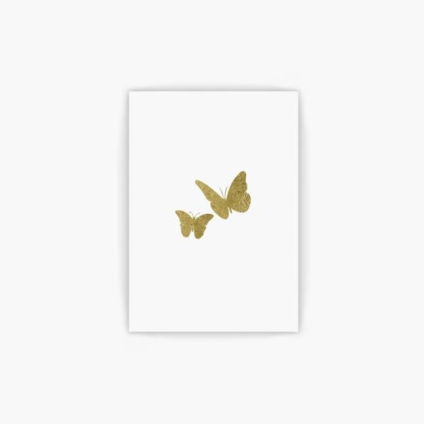 free printable gold butterfly