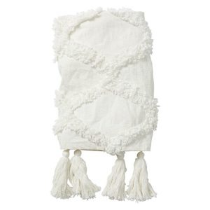 white amalfi throw