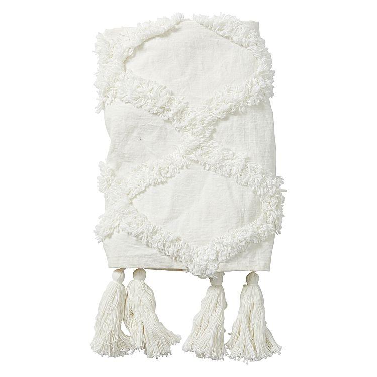 white amalfi throw