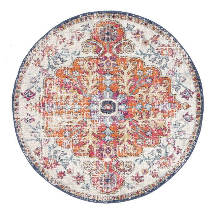 round boho rug