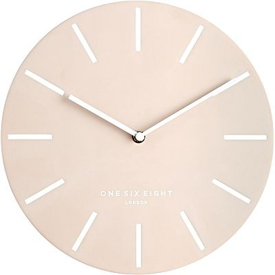 round pink clock