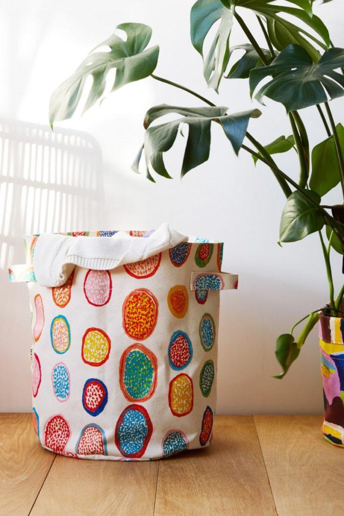 colourful washing basket