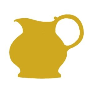 retro yellow vase free clipart