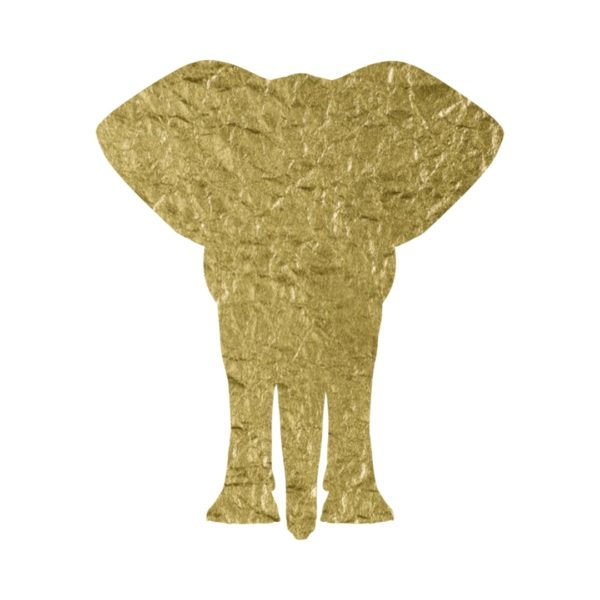 gold foil elephant clipart