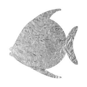 Silver Foil Fish free clip art