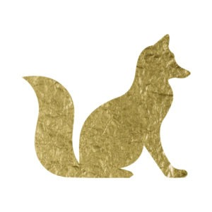 Gold Foil Fox free clip art