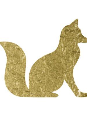 Gold Foil Fox free clip art