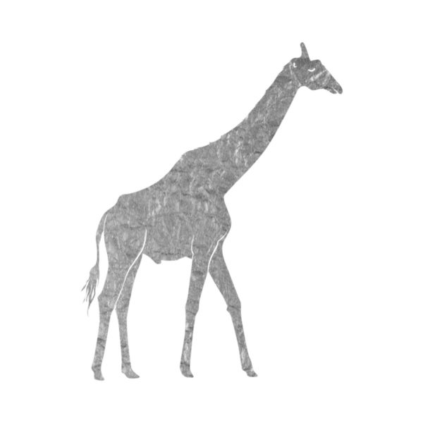 Silver Foil Giraffe clip art free