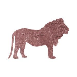 Rose Gold Foil Lion clip art