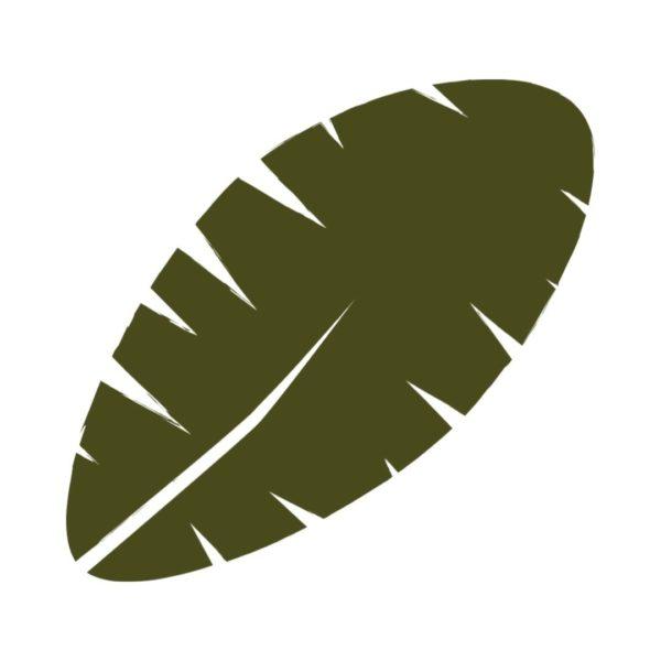 banana leaf free clipart
