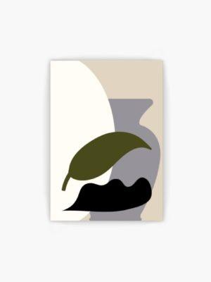 Retro Vase and Leaf free wall art