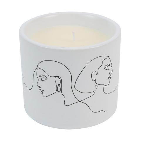 monochrome candle