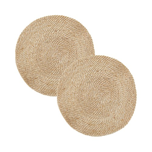 Sicily Collection Pack of 2 Natural Round